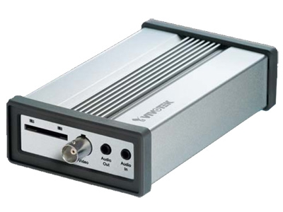 VS8102 - Video Server IP, H.264, MJPEG/MPEG4, SD card, 1 canal video, 3GPP, 1 port RS485, 30 fps