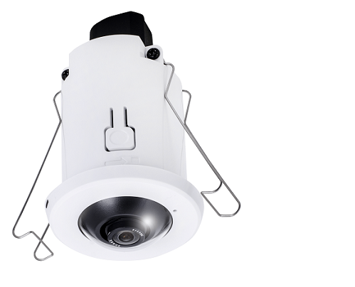 FE8182, Camera IP Fisheye de int, 5MP, 360° Surround View, 1.05 mm, audio, -10˚+40˚C, POE class 1, slot card, H.264, Smart Stream, WDR, 3DNR