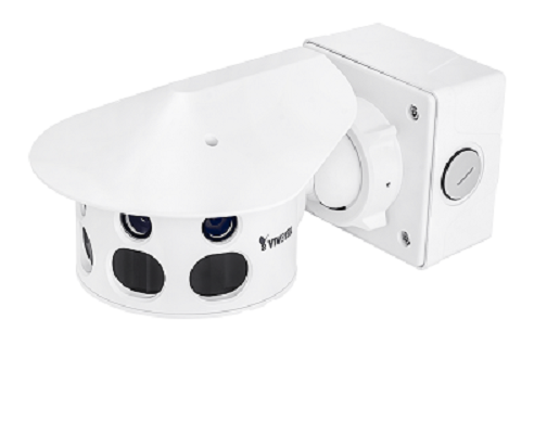 MS8391-EV, Camera IP multiple sensor, de ext, 12MP, IR 30m, 180° Panoramic View, 6mm, POE 4 (-20˚+50˚C), 24V(-50˚+50˚C), audio, IP66, IK10, 12V, H.264, slot card, Smart Stream II, garantie 3 ani