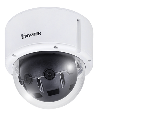 MS8392-EV, Camera IP dome de exterior, 12MP, 180˚ panoramic view, 6 mm, IR cut filter, audio,  -50˚+50˚C, IP66, IK10, POE class 4, 24V, H.264, slot card, Smart Stream II